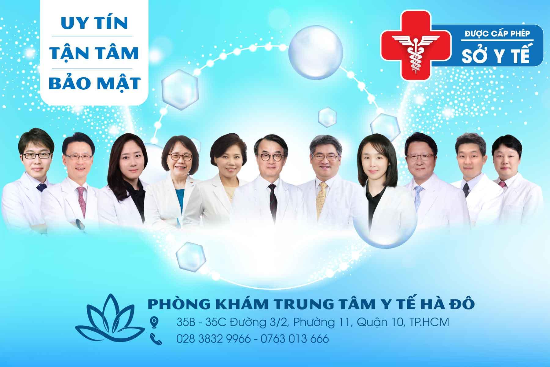 Đội ngũ y bác sĩ phòng khám
